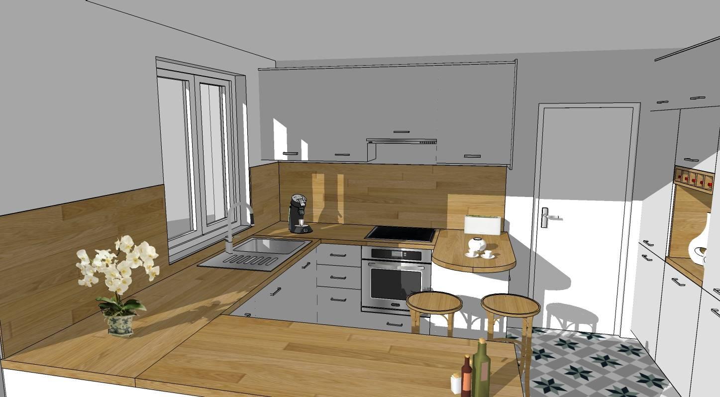 Agencement de cuisine sur mesure cap 3 deco for Projet cuisine en 3d