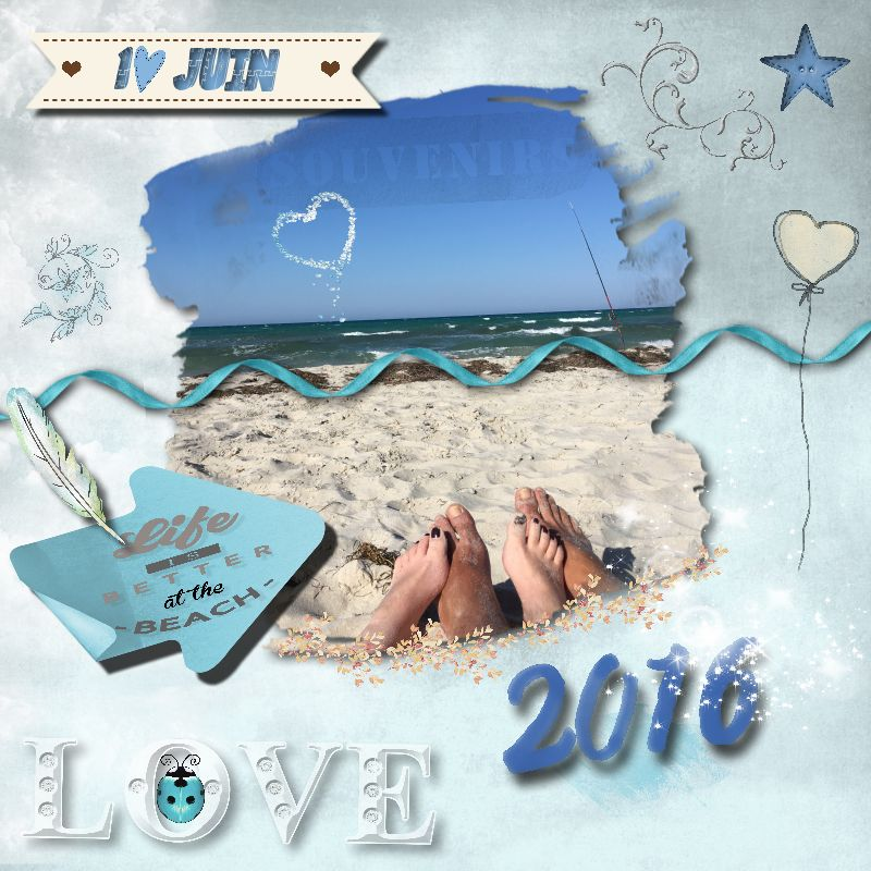 "Cap 3 Déco scrapbooking ""Life is better at the beach"" la vie est meilleure à la plage"